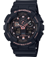 Casio G-Shock GA-100GBX-1A4 Analog Digital Black and Pink Men's Watch - $73.21