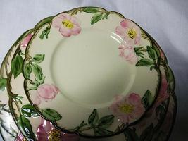 Vintage Franciscan China Desert Rose 4 piece plate set 3 size plates and 1 bowl image 4