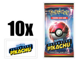 Pokemon TCG Detective Pikachu 10 Booster Pack Lot Movie Trading Cards - $28.95
