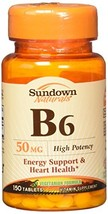 Sundown B-6 50 mg Tablets 150 Tablets - $9.89