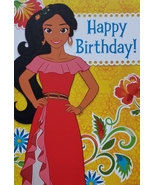 "Disney Princess Elena Avalor  Greeting Card Birthday ""Happy Birthday!""  - $3.89"