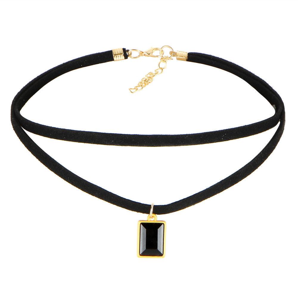 17KM® 10 pcs/set Bohemian Gothic Tattoo Choker Necklaces Set Black Lace Long