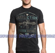 AFFLICTION Recoil A18271 New Short Sleeve Graphic GI Foundation T-shirt for Men - $44.95