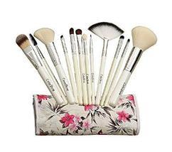 White Animal Hair Makeup Brushes 12 PCS Pro Brush Kit