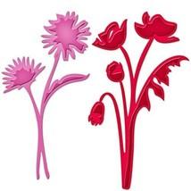 """Spellbinders Shapeabilities Die D-Lites """"Asters and Poppies"""" #S3-206"""