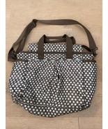 Le Sportsac  Baby Diaper Bag Tote Polka Dot Brown Blue Pockets Zipper  - $15.00