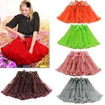 B&N Women Chiffon Pettiskirt Tutu Skirt Adult Fluffy Ballet Petticoat Tulle 43cm