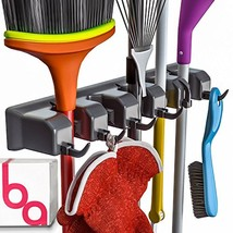 Berry Ave Broom Holder and Garden Tool Organizer Rake or Mop Handles Up ... - $22.98
