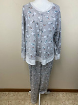 Cuddl Duds XL Polar Bear Pajama Set Gray Shirt Pants Womens - $21.99