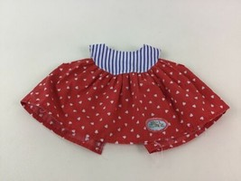 Magic Nursery Replacement Doll Dress Red Heart Blue Stripes Mattel Vintage 80s - $13.32