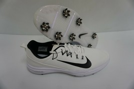 Nike lunar command 2 golf shoes white black size 9 us men - $128.65