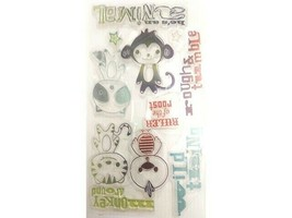 Cute Animal Stamps with Sentiments, Perfect for Kids Cards and Baby Albums