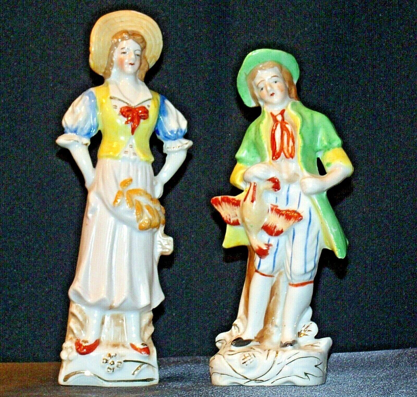 Pair of Hand painted Figurines AA-192055 Vintage Japan