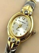 SERGIO VALENTE Vintage Ladies Watch Gold Silver Tone Band - $29.77