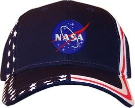 Nasa Meatball Insignia Embroidered Stars & Stripes Baseball Cap Hat Navy - $35.99