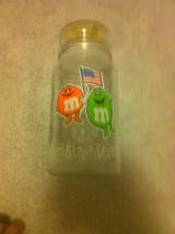 M & MS--1984 OLYMPIC COMMEMORATIVE JAR--GLASS--LOS ANGELES--FREE SHIP--EUC - $19.88