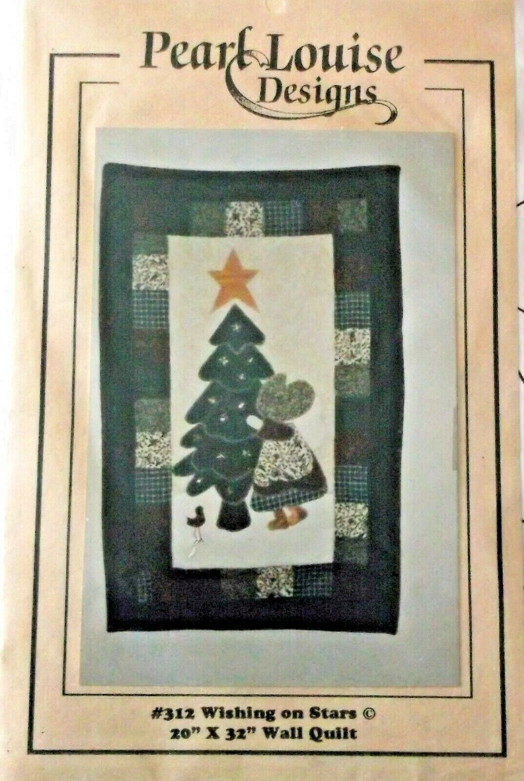 Primary image for Wishing on a Stars Wall Quilt Pattern Pearl Louise Design 20 x 32 Applique
