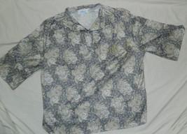 Womens Aimee Brand Casual Pullover Khaki & Black Top size 24W / 48x28 - $13.98