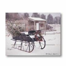 GRANDPA'S SLEIGH new large wood pallet Art Print - $38.00