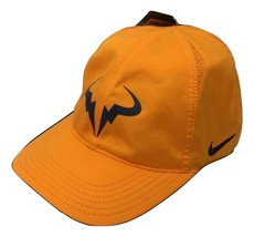 NEW! Nike Rafa Nadal Bull Featherlight Adjustable Tennis Hat-Orange/Navy - $69.18