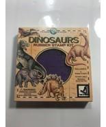 Rubber Stampede DINOSAURS Rubber stamp Kit Vintage Rare Complete! - $18.69