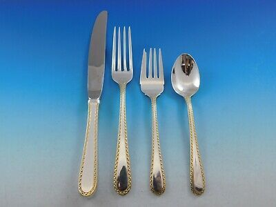 Primary image for Golden Winslow by Kirk Sterling Silver 18 Flatware Service Set 80 pieces