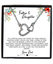Father & Daughter Necklace Gift, Daughter Birthday Gift, Necklace from Father  - £18.28 GBP