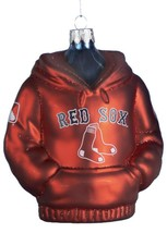 Kurt Adler Boston Red Sox 4-1/2-Inch Glass Hoodie Sweatshirt Ornament - $11.30