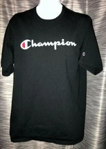 Champion Vintage 90's Script Logo Men's Black Tee T-Shirt XL Extra-Large... - $44.99