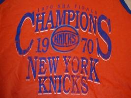 NBA New York Knicks Basketball 1970 Champions  Sleeveless Shirt Size S Throwback - $17.81