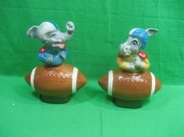 Vintage Jim Beam Football Republican Elephant & Democrat Donkey Decanter... - $41.10