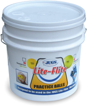 Jugs Lite-Flite Baseballs With Bucket Optic Yellow, 9-Inch - $77.21