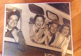 "Vintage Black & White Print of Honeymooners on Bus-11"" X 14""-Man Cave-Re... - $0.99"