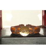 Vintage Style Adjustable Gemini Leather Bracelet - $6.93