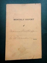 1917 antique SCHOOL REPORT CARD~FRANCIS GARTHOEFFNER lititz pa - $34.95