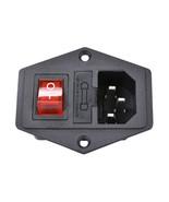 15A 250V Power switch AC 3pin AC power socket with red triple Rocker Swi... - $2.80