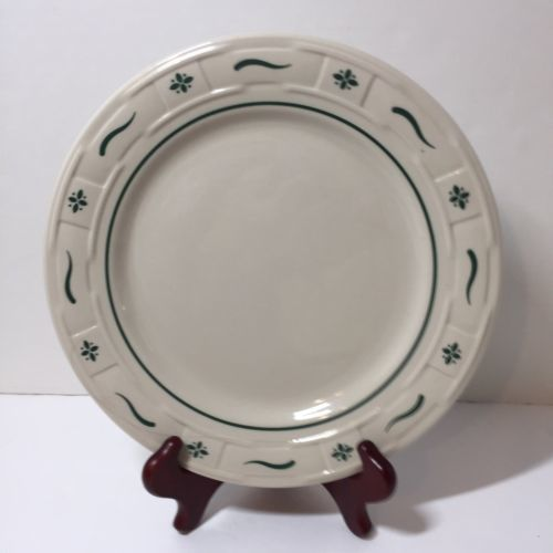 Dinner Plate Longaberger Pottery Woven Traditions Green 10""