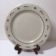 "Dinner Plate Longaberger Pottery Woven Traditions Green 10"" - $24.18"