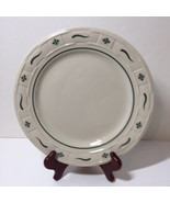 """Dinner Plate Longaberger Pottery Woven Traditions Green 10"""" - $24.18"""