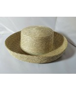 Betmar Women's Straw Hat Classic Roll Up Upturned Brim Natural Green Tin... - $70.66