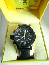 Invicta 3332 I-Force Left Handed Black 46 mm Case Black Leather Strap RP... - $99.00