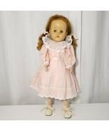 "20"" Vintage Hard Plastic Walker Uneeda Doll Red Hair Vinyl Face 210 Body - $51.94"