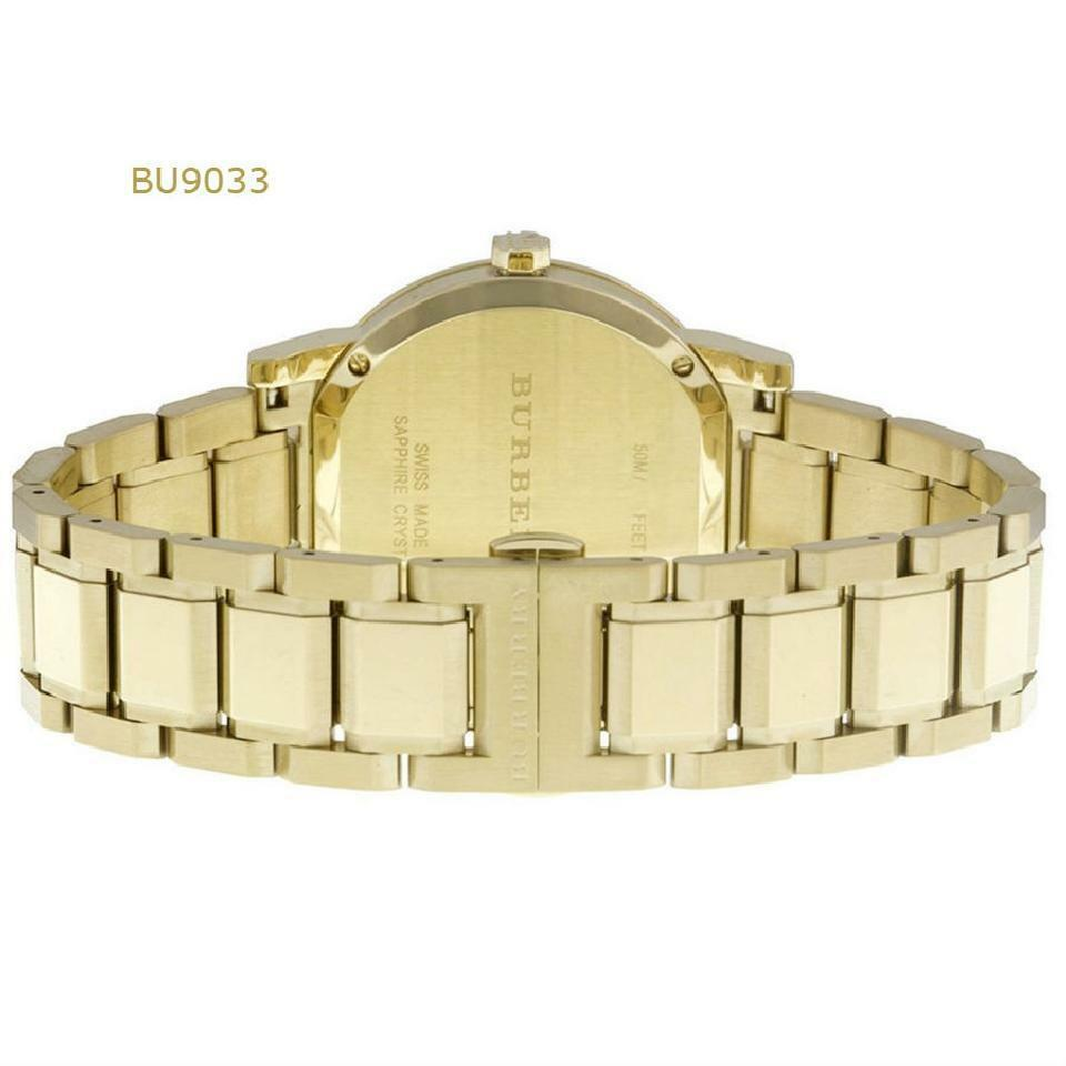 NEW Burberry BU9033 Beige / Gold Stainless Steel Analog Quartz Unisex Watch image 2