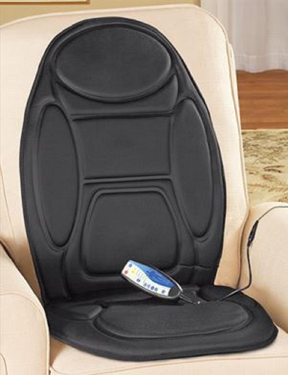 Vibrating Car Seat Cushion Massage Heat Portable Back Chair Neck Lumbar Flex