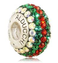 Alducchi Ruby Red -Emerald - AB Swarovski Crystal 925 Silver European Ch... - $25.95