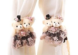 George Jimmy 1 Pair of Cartoon Bear Curtain Hold Backs Curtain Tieback f... - $30.55