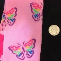 Pink Rainbow BUTTERFLY KNEE HIGHS SOCKS-Punk Novelty Lolita Kawaii Cheer... - $5.91