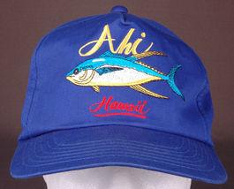Vtg AHI Hawaii Hat-Blue-Snapback-Fish-Island-Vacation-Dorfman Pacific-Trucker image 7