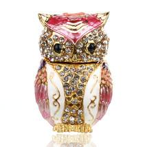 2.3inch Pink Owl Figurines Wedding Ring Trinket - $30.95