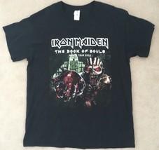 Iron Maiden Vintage Rock Souls Beast Black Short Sleeve World Tour T-Shirt Sz L - $30.00